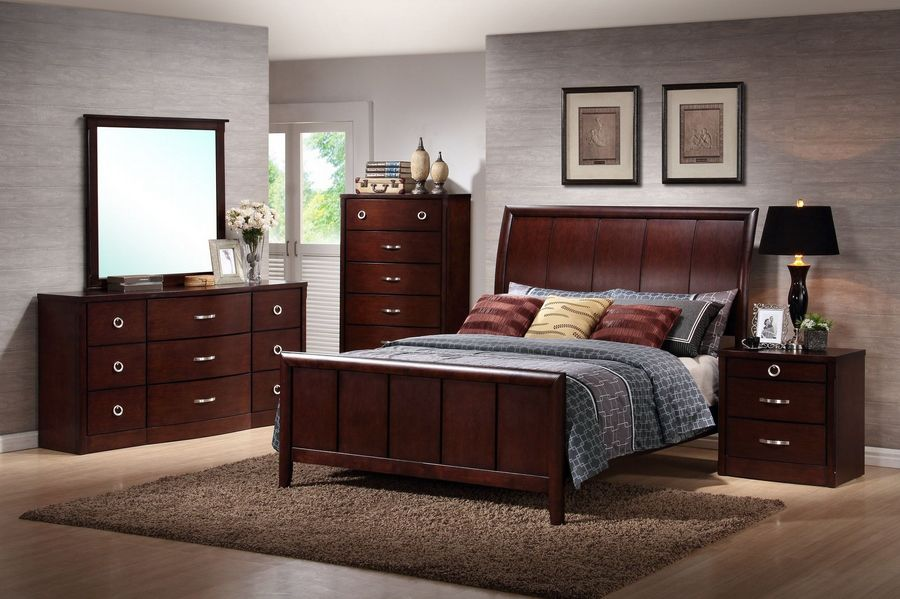 Baxton Studio Argonne Queensize 5piece Modern Bedroom Set  Home  Furniture  Bedroom