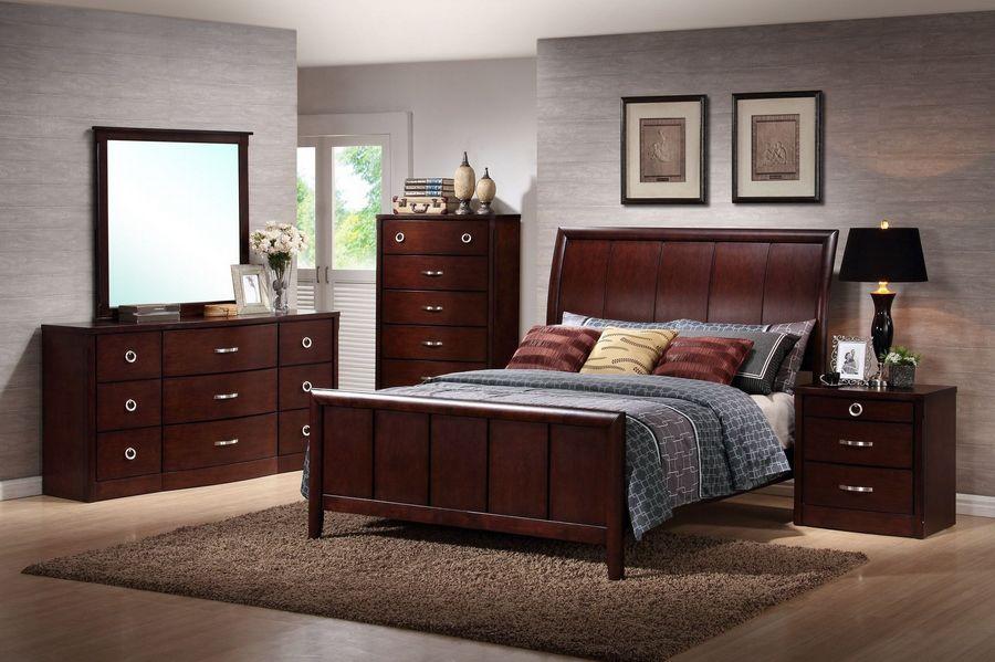 Baxton Studio Argonne Queen-size 5-piece Modern Bedroom