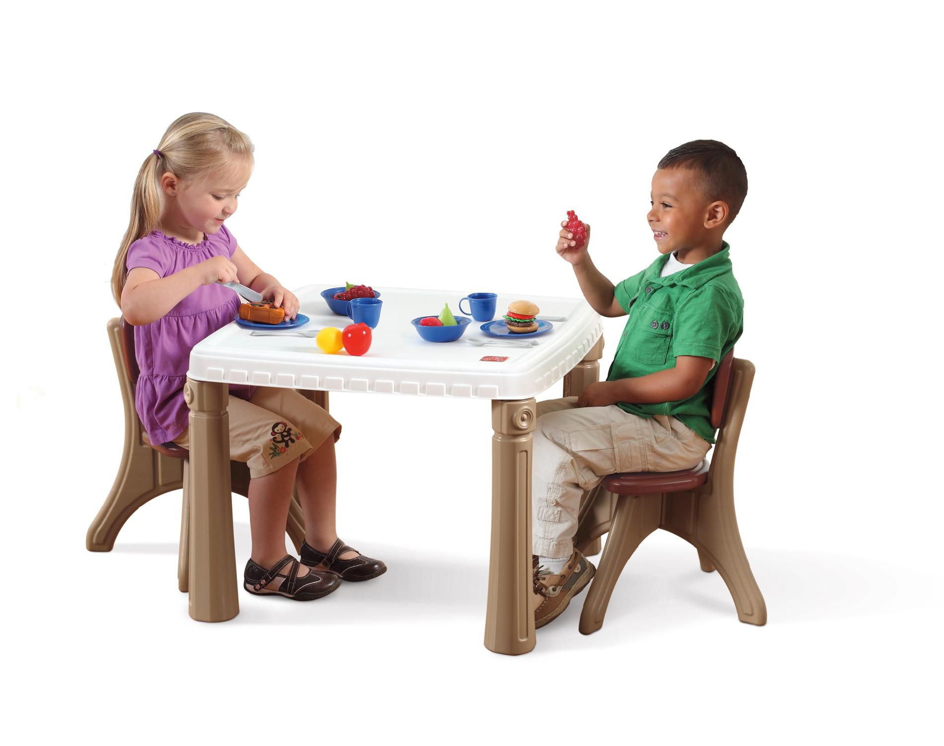 toddler chair and table for eating green folding covers step 2 lifestyle kitchen chairs set baby