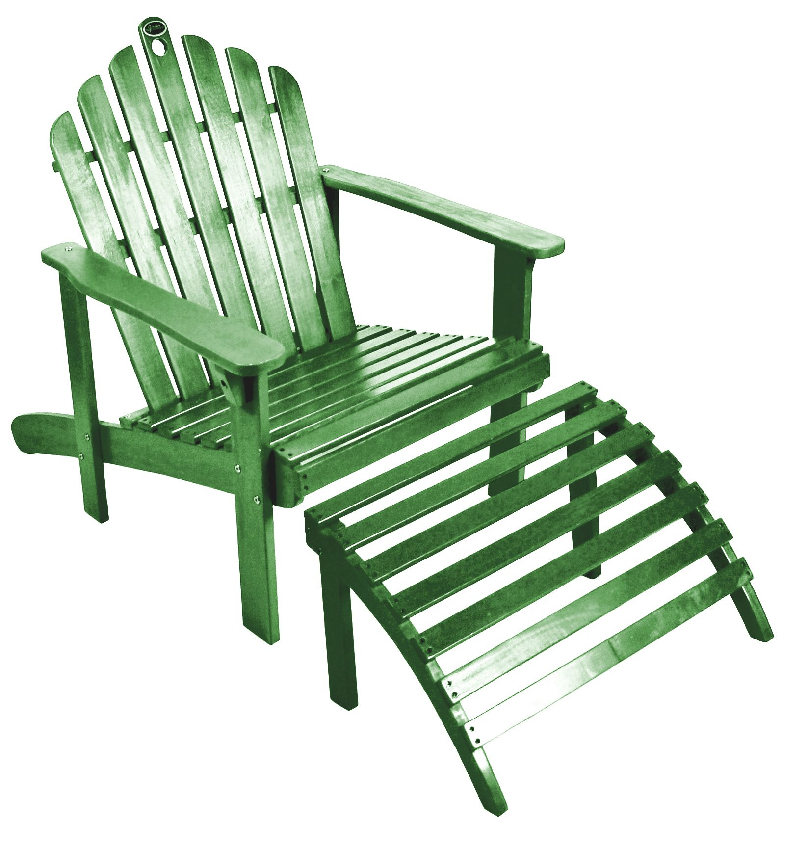 Patio Chairs With Ottoman Green Adirondack Chair With Ottoman Outdoor Living