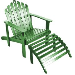 Adirondack Chair With Ottoman Plans Waffle Target Green Outdoor Living