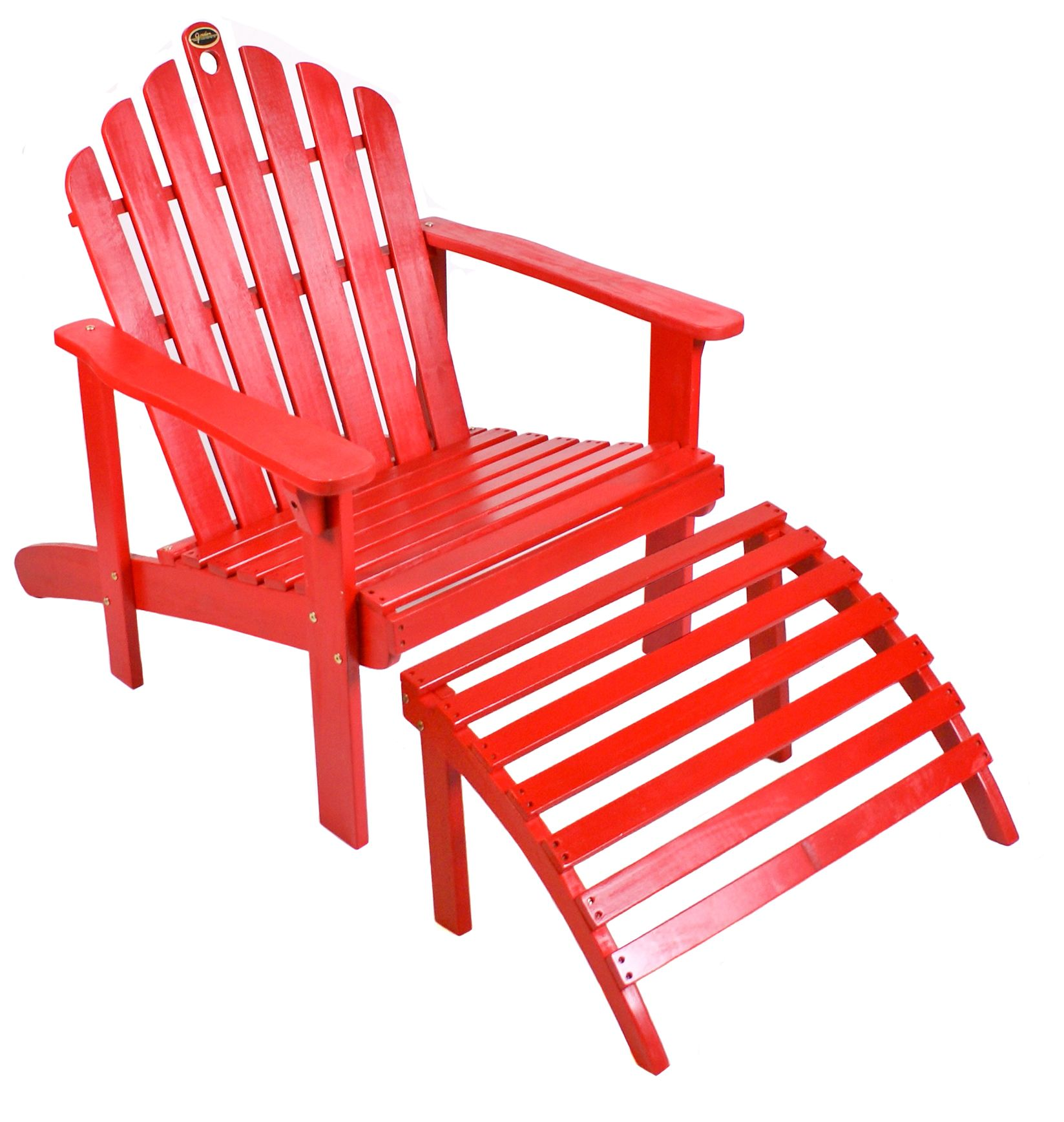 Red Adirondack Chairs Red Adirondack Chair With Ottoman Outdoor Living Patio