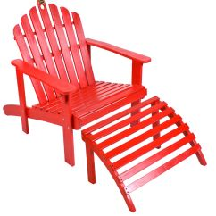 Red Adirondack Chairs Resin Wicker Chair With Ottoman Outdoor Living Patio