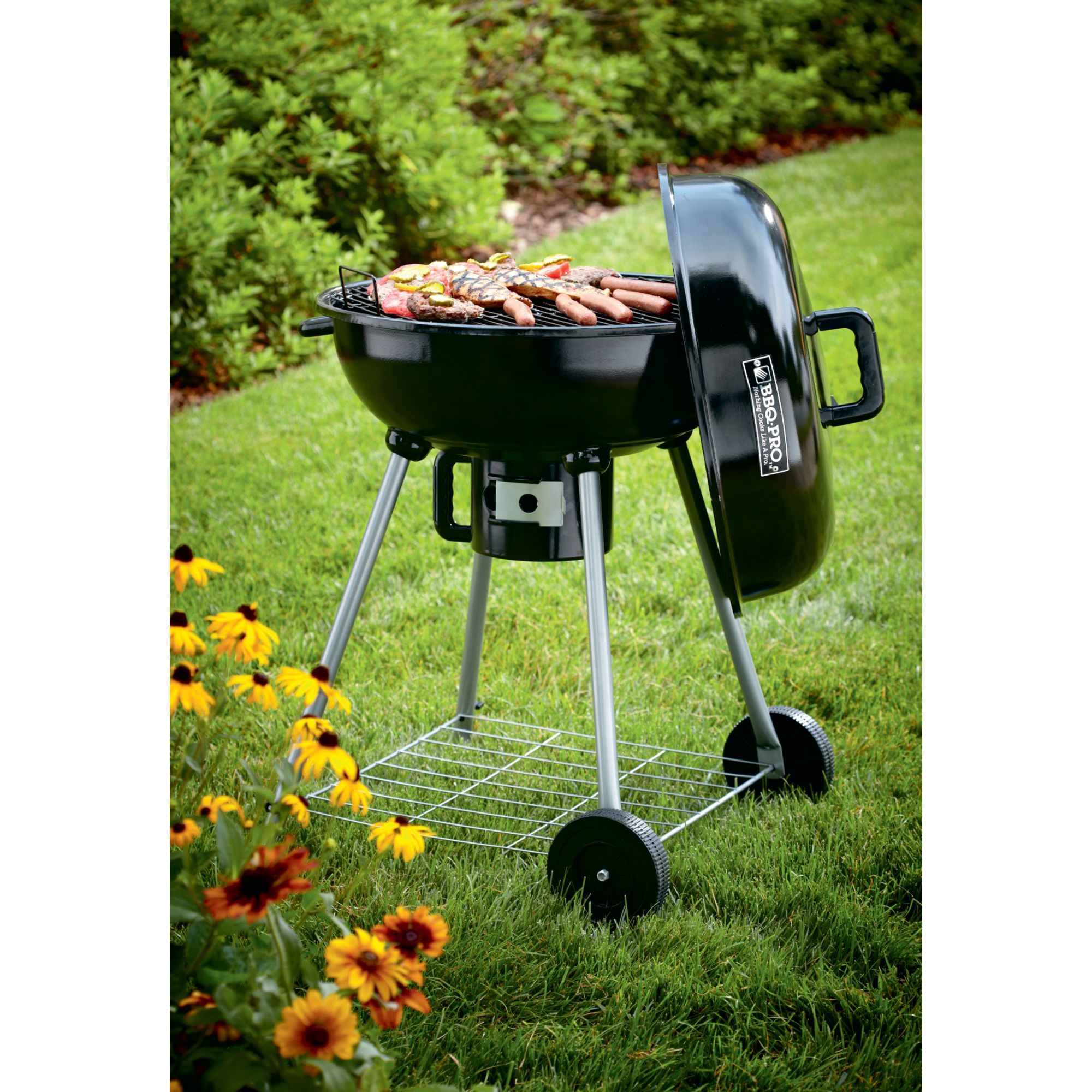 Portable BBQ Grill Backyard Outdoor Tailgate Round