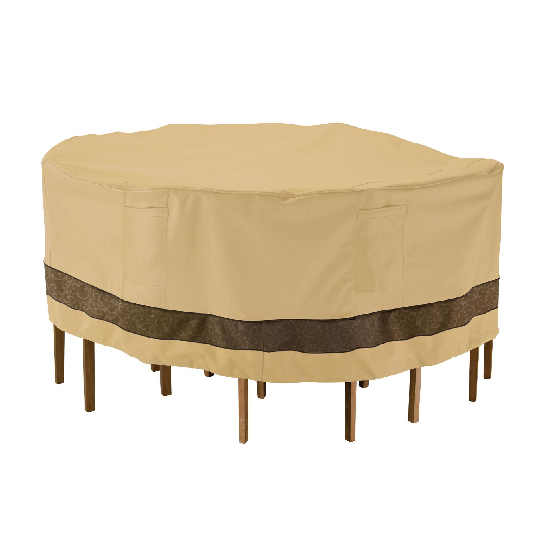 patio table and chair set cover chairs that convert to beds classic accessories veranda elite