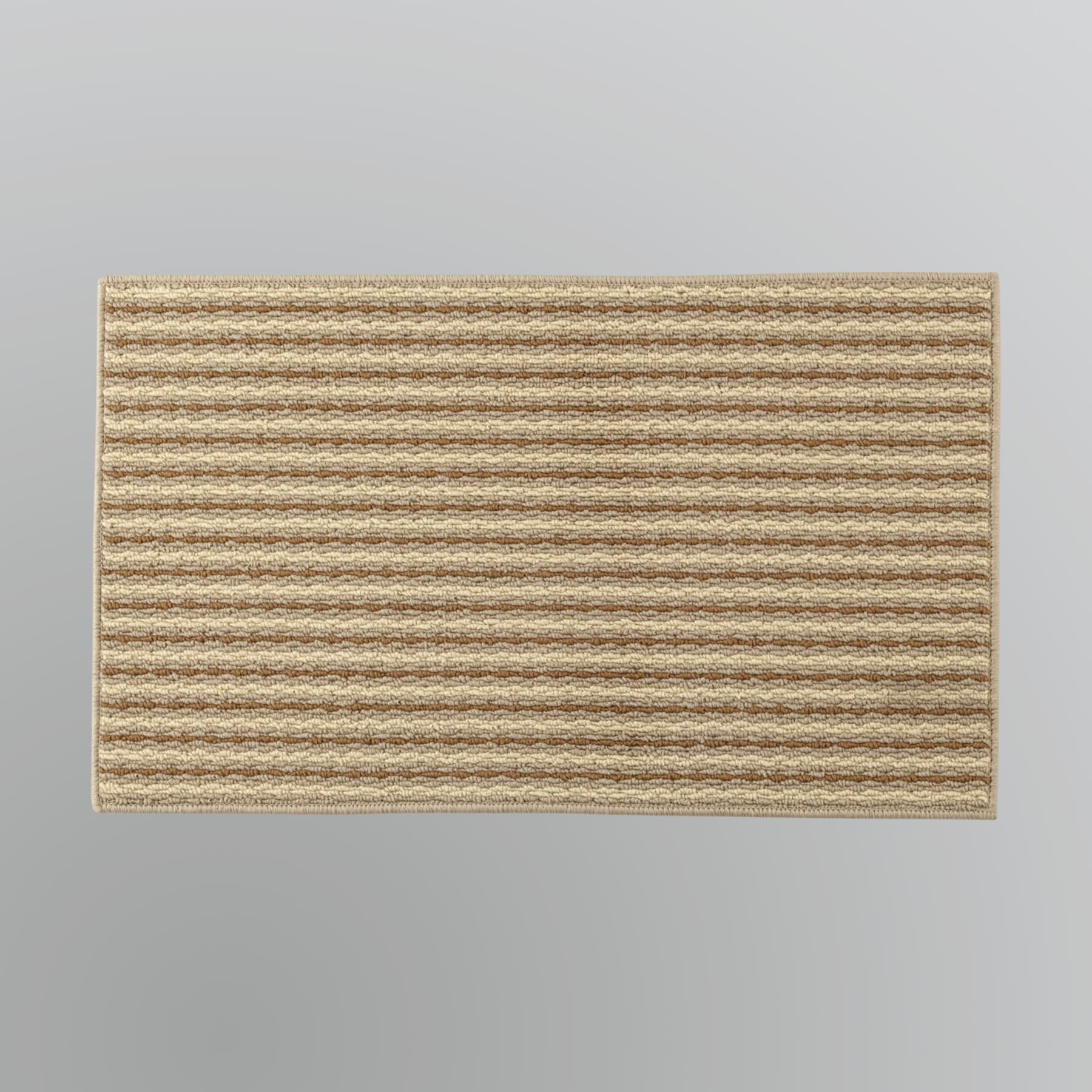 striped kitchen rug pantry cabinet essential home pasadena mat natural