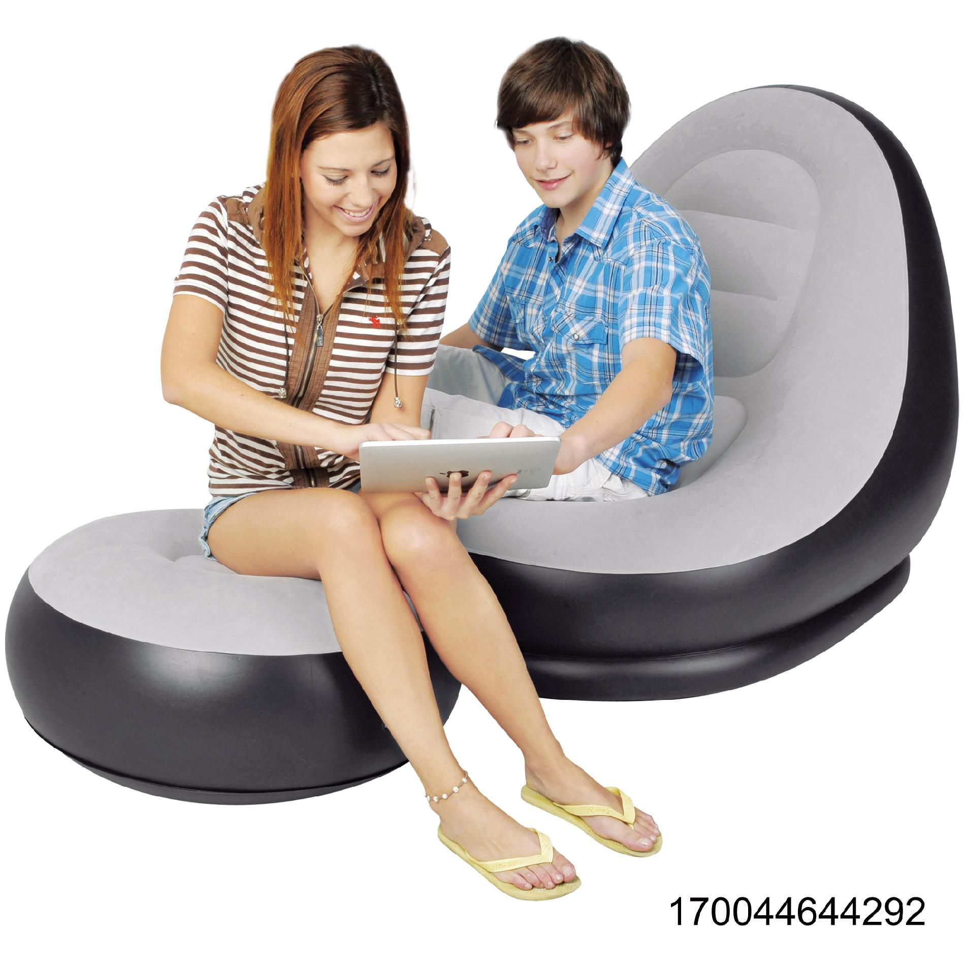 intex inflatable chair and ottoman wedding covers lake district deluxe lounge with enjoy comfort
