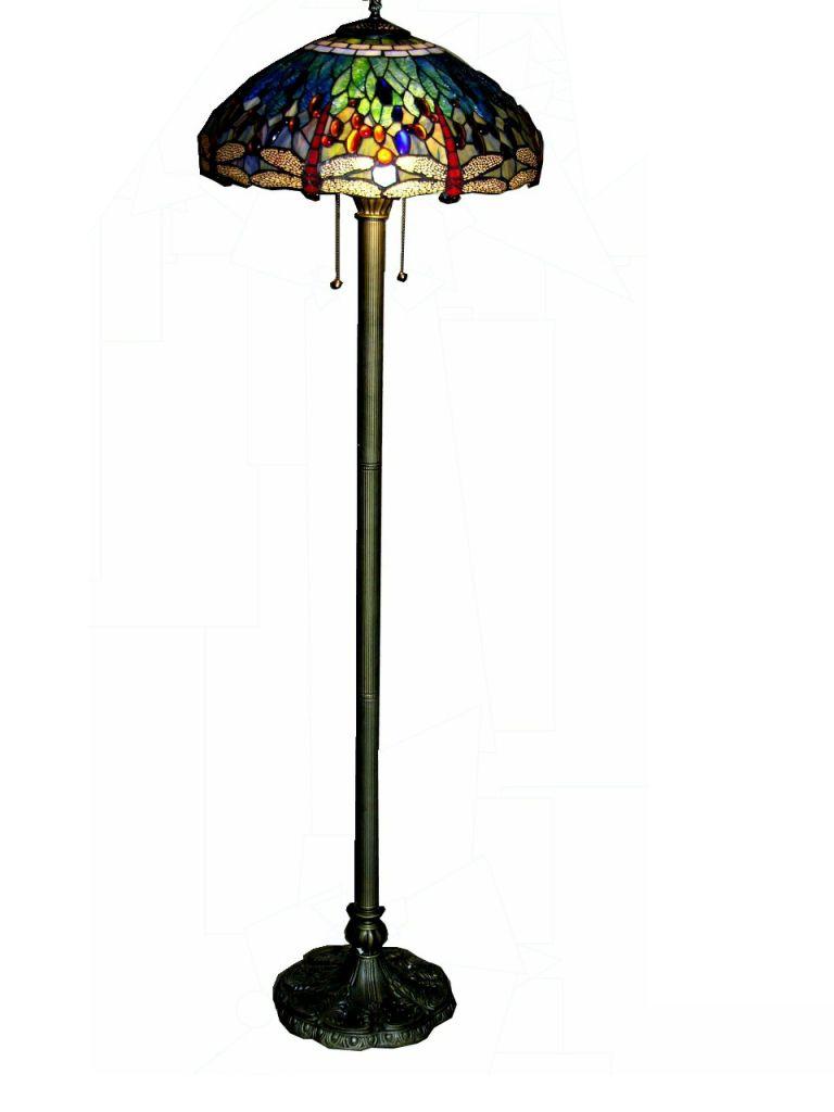 Warehouse of Tiffany Tiffanystyle Dragonfly Floor Lamp