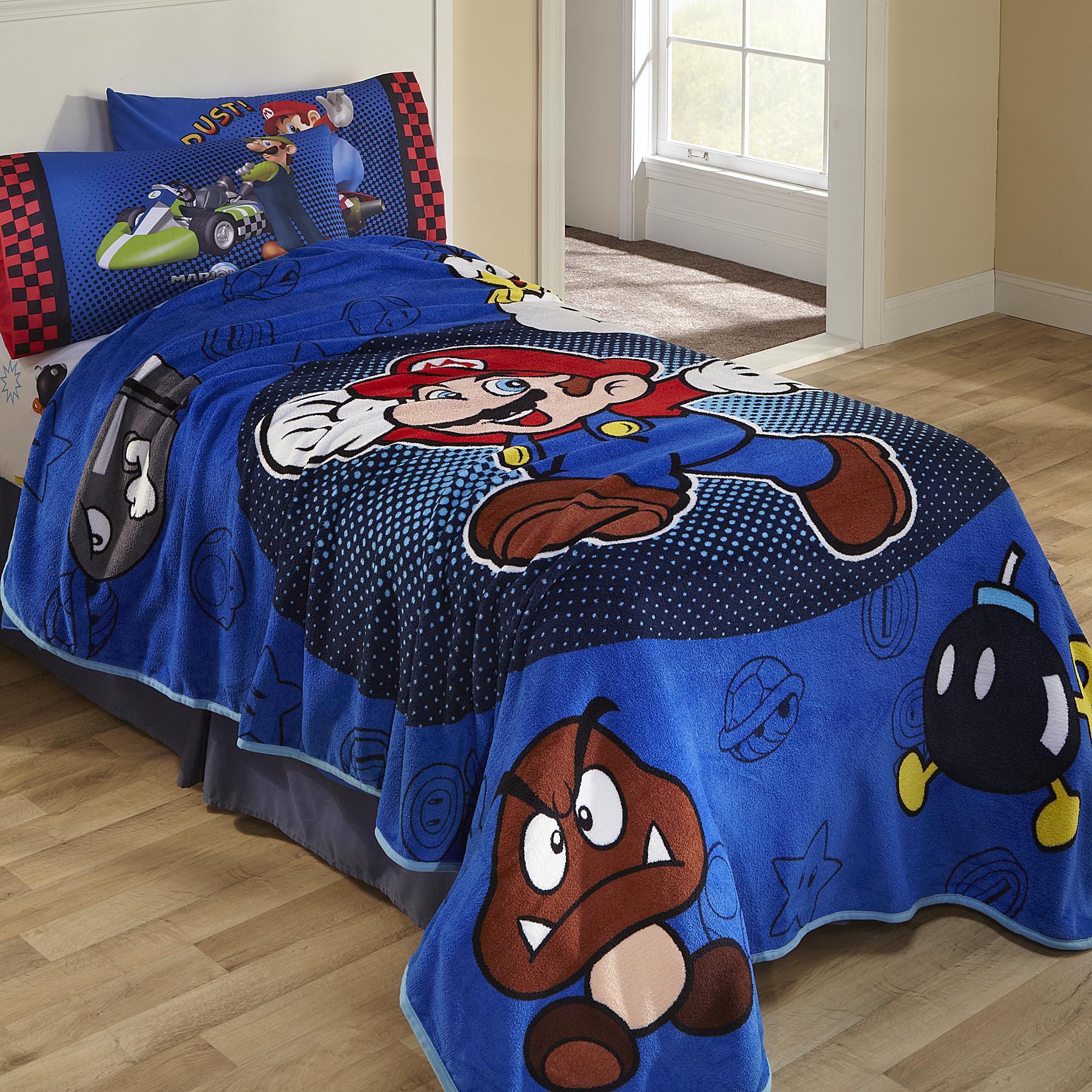 Super Mario Fleece Blanket
