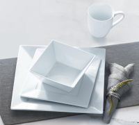 Sandra by Sandra Lee 16pc Square Porcelain Dinnerware Set