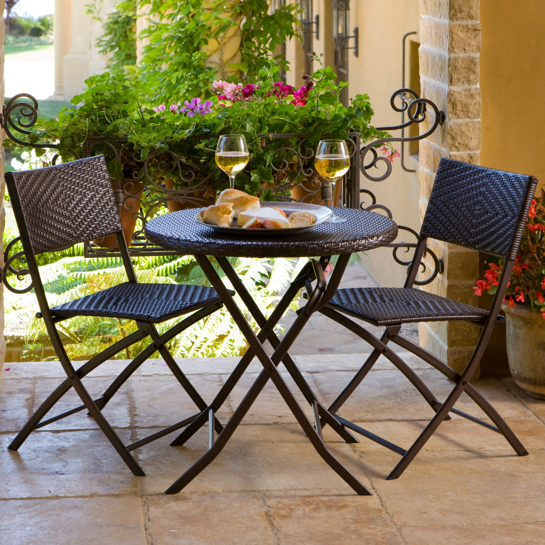 porch table and chair set ashley furniture swivel best patio lawn garden rst outdoor 3 piece bistro