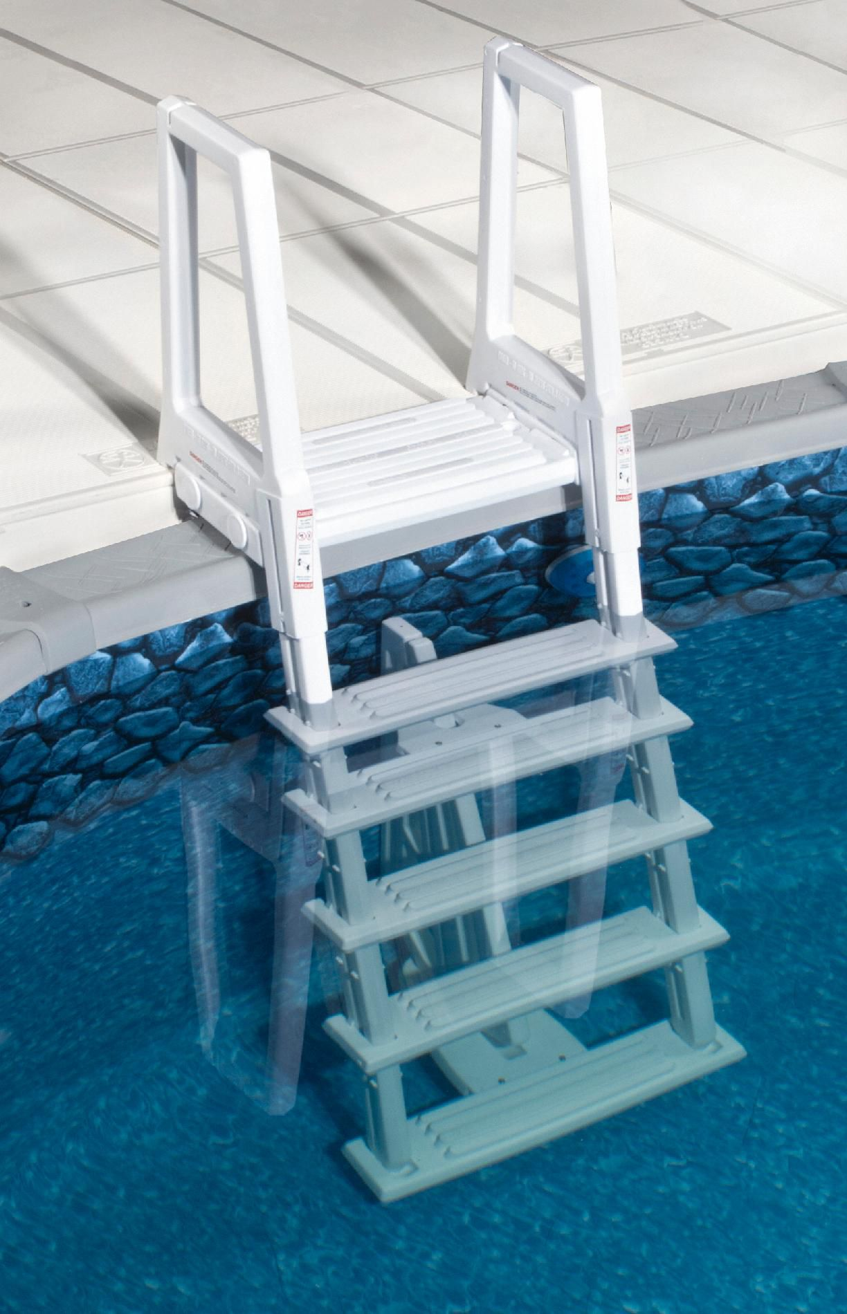 Blue Wave White Heavy Duty In-pool Ladder Above Ground Swimming Pools
