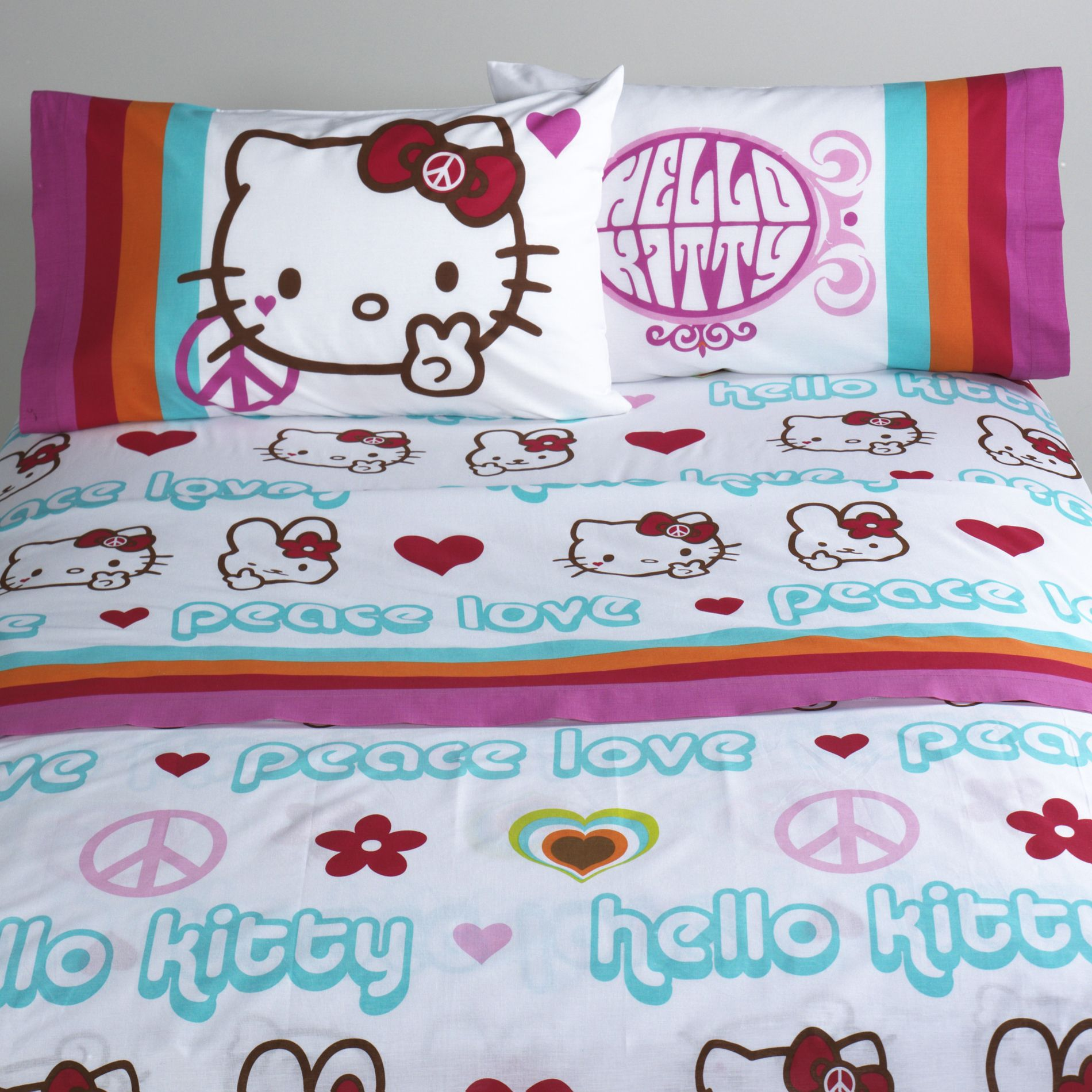 Kitty Peace Signs Full Sheet Set