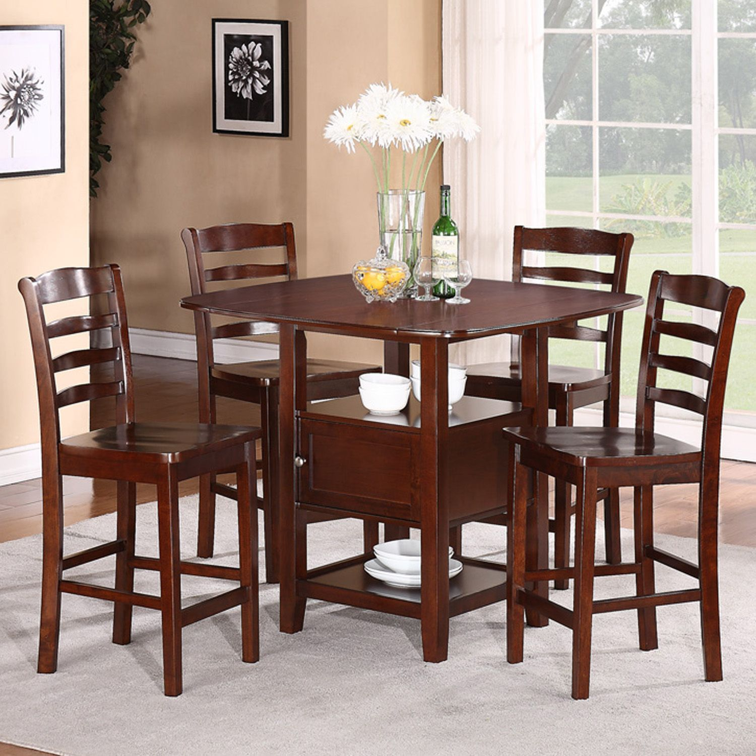 5pc Dining Set with Storage  Shop Your Way Online