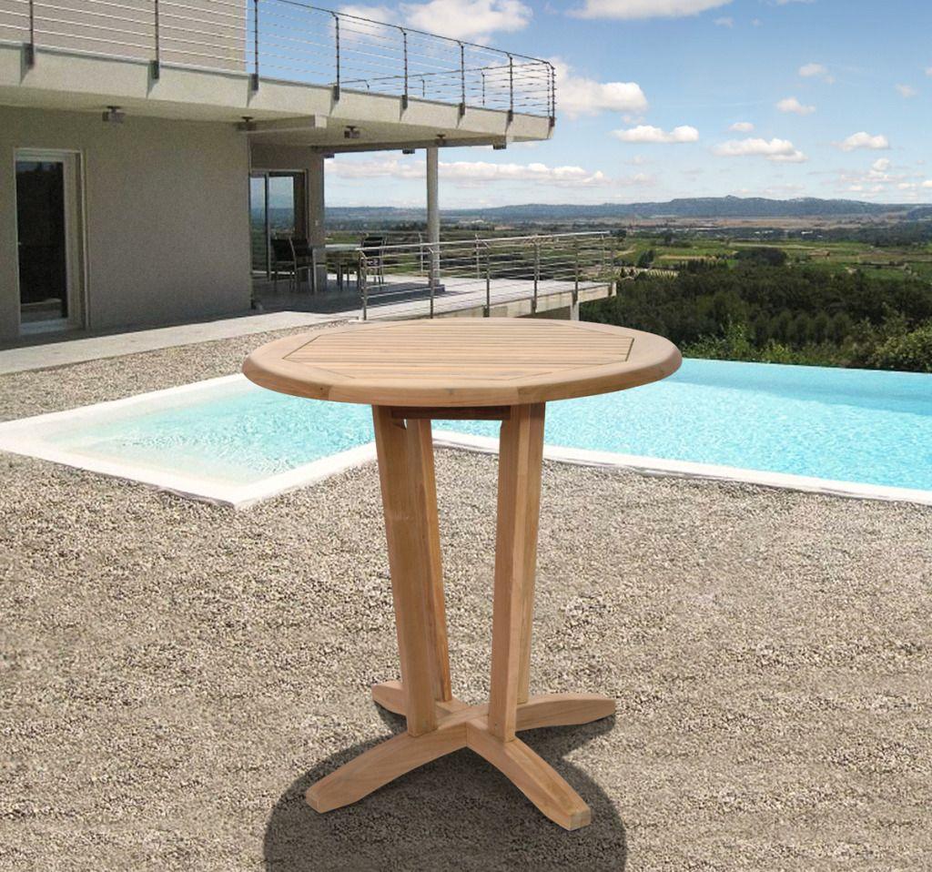Montana Teak Wood Patio Bistro Table