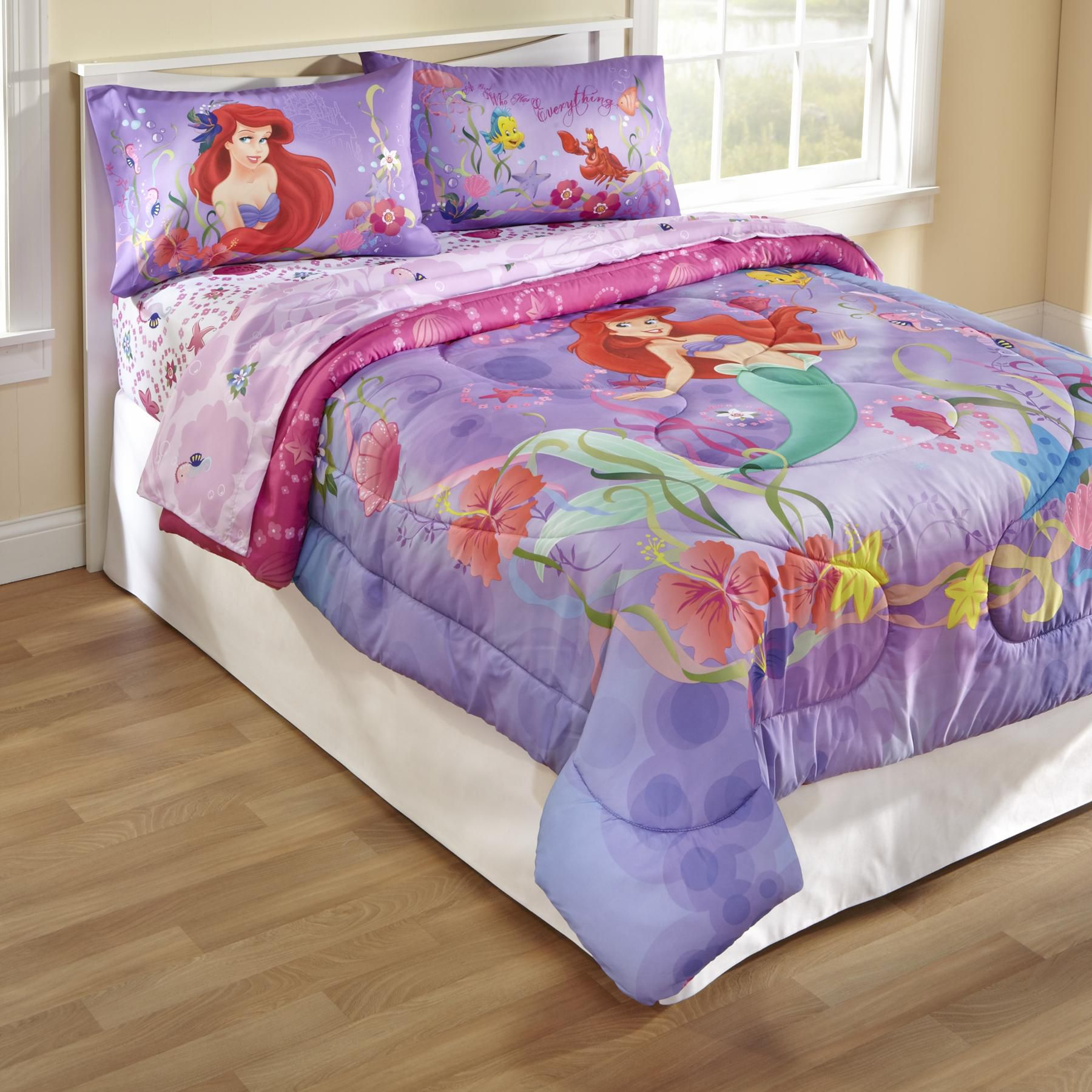 Disney Mermaid Twin Full Comforter - Home Bed & Bath Bedding Collections