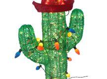 36 In. 150 Bulb Acrylic Cactus Christmas Décor