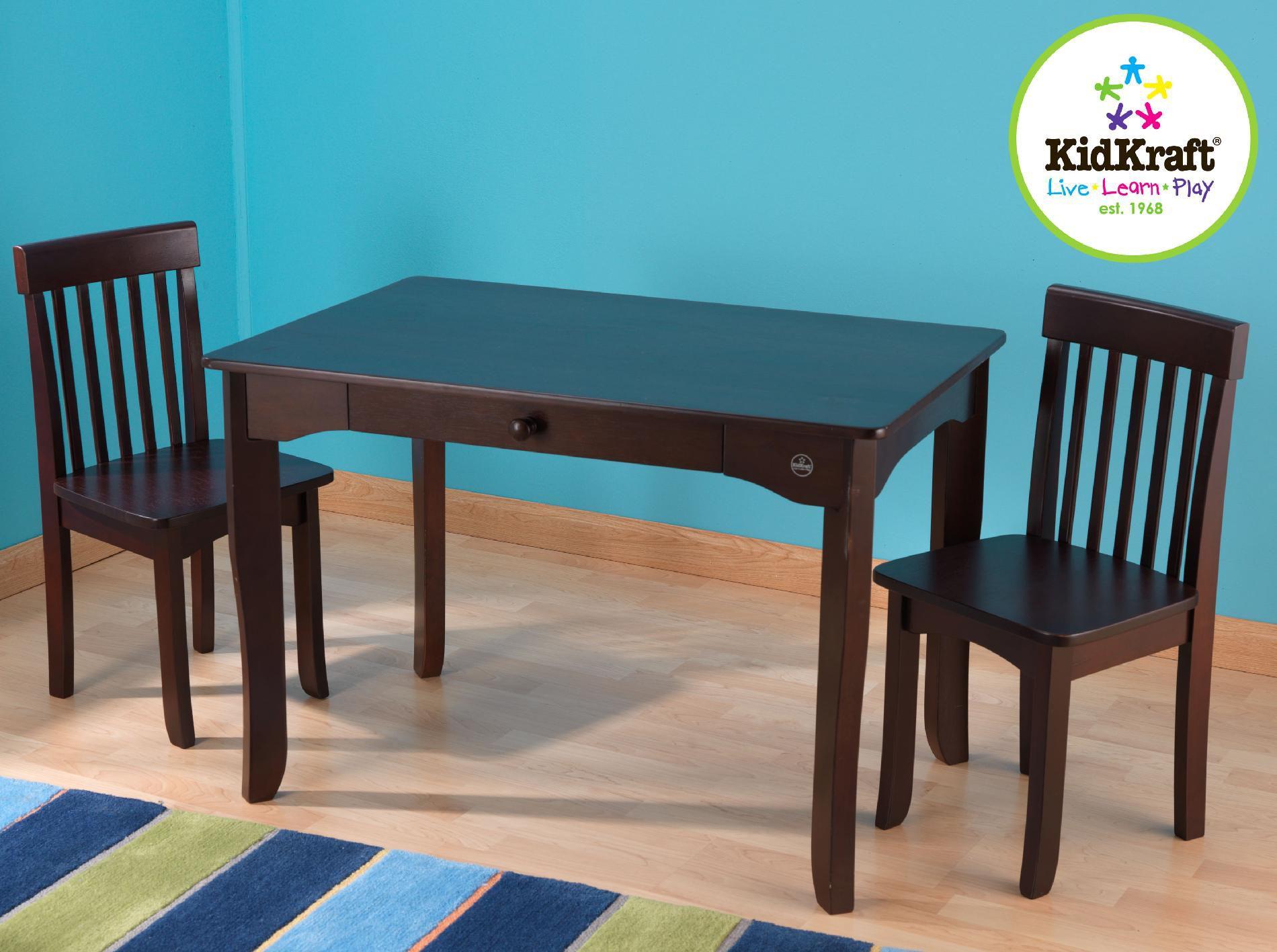 kidkraft avalon chair baby portable high nz table set espresso
