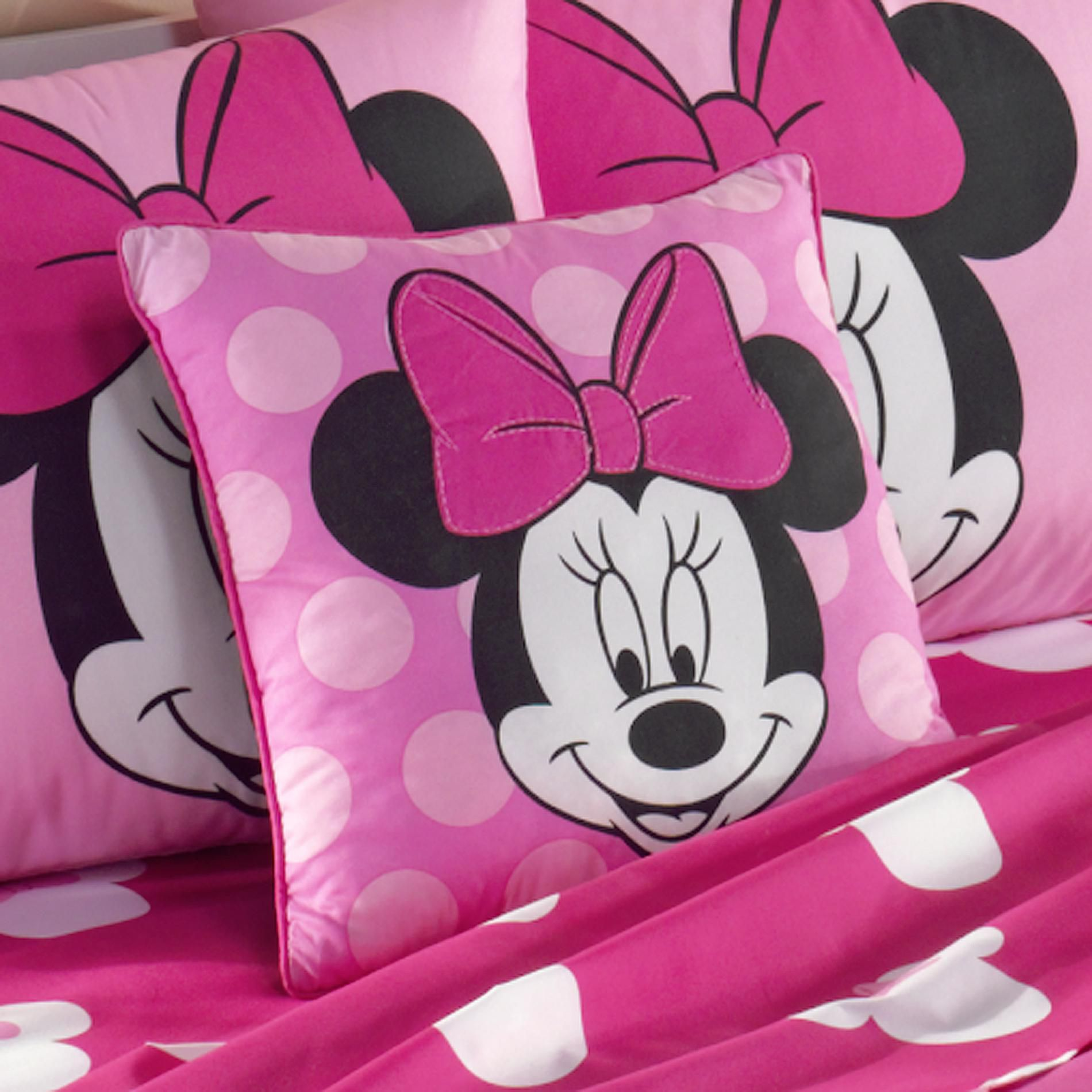 disney minnie mouse shaped decorative pillow for girls