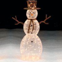 Trim A Home 50 Lighted Snowman Outdoor Christmas ...