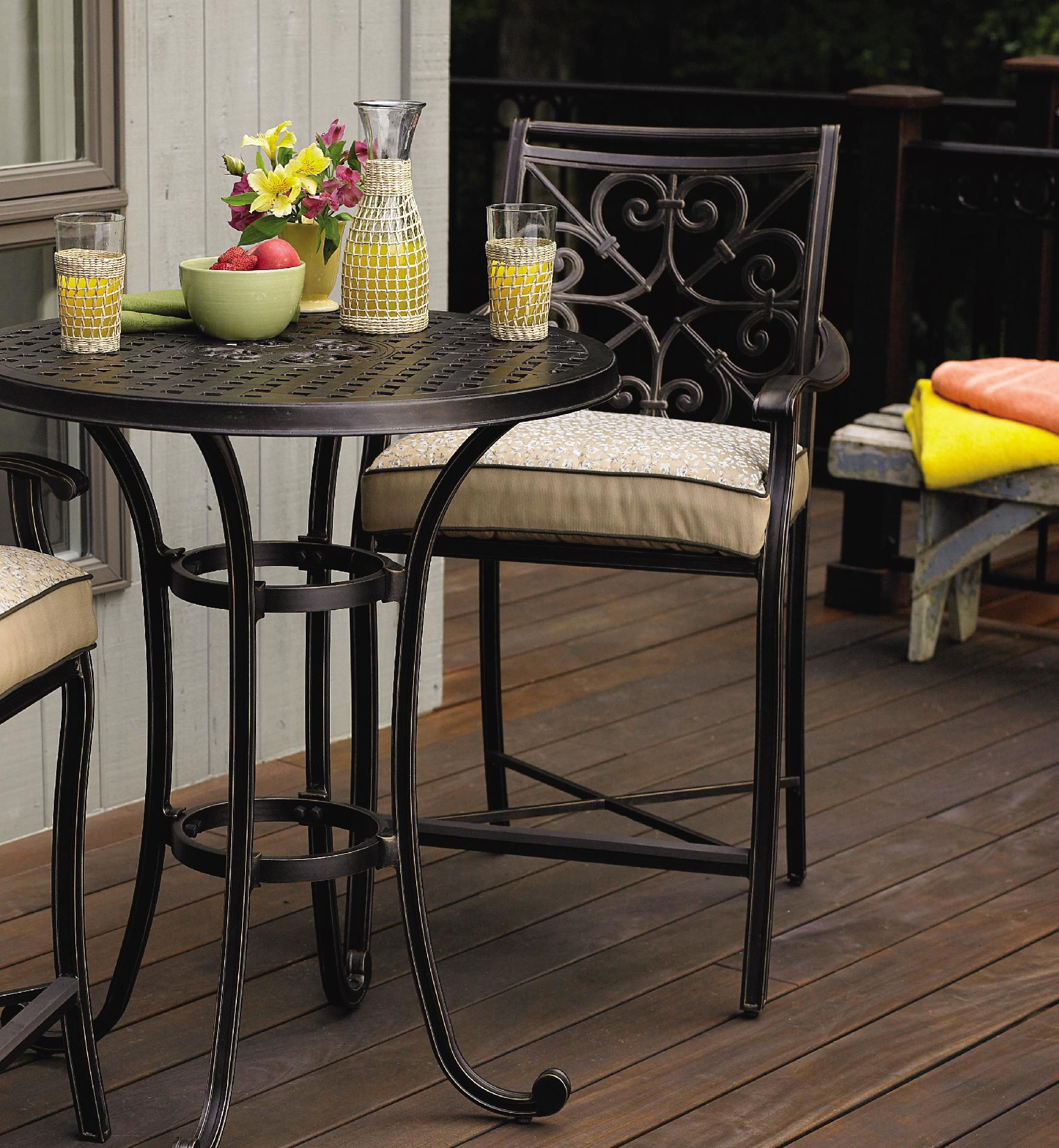 Balcony Height Bistro Set Make the Most of Outdoor Living with Sears