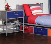 American Furniture Alliance Locker Twin Bed with 3 Drawers ...