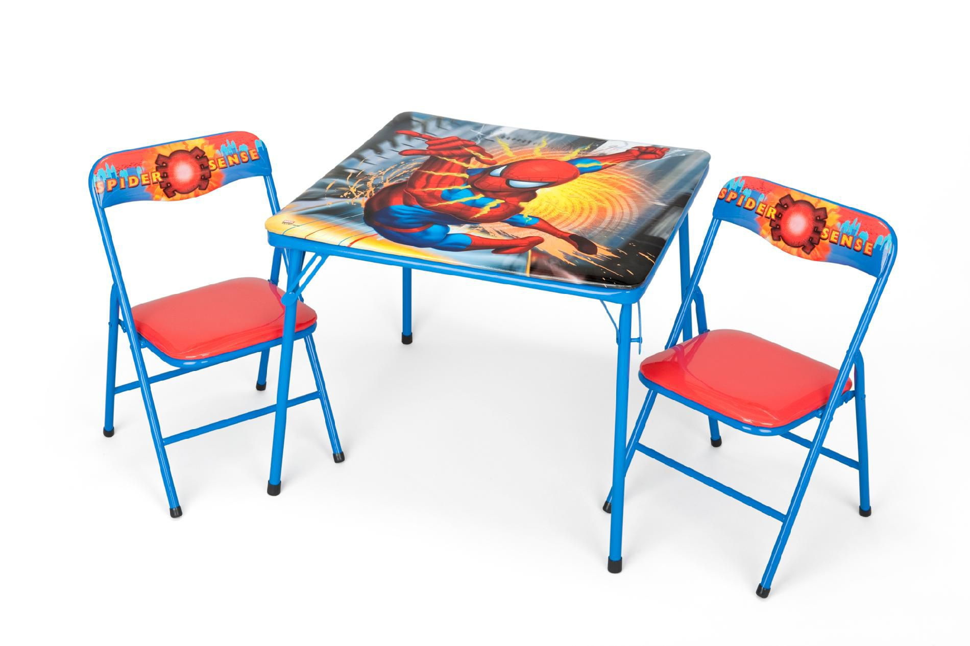 spiderman table and chairs office chair mesh marvel folding