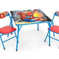 Spiderman Table And Chairs Dunelm For Showers Marvel Folding