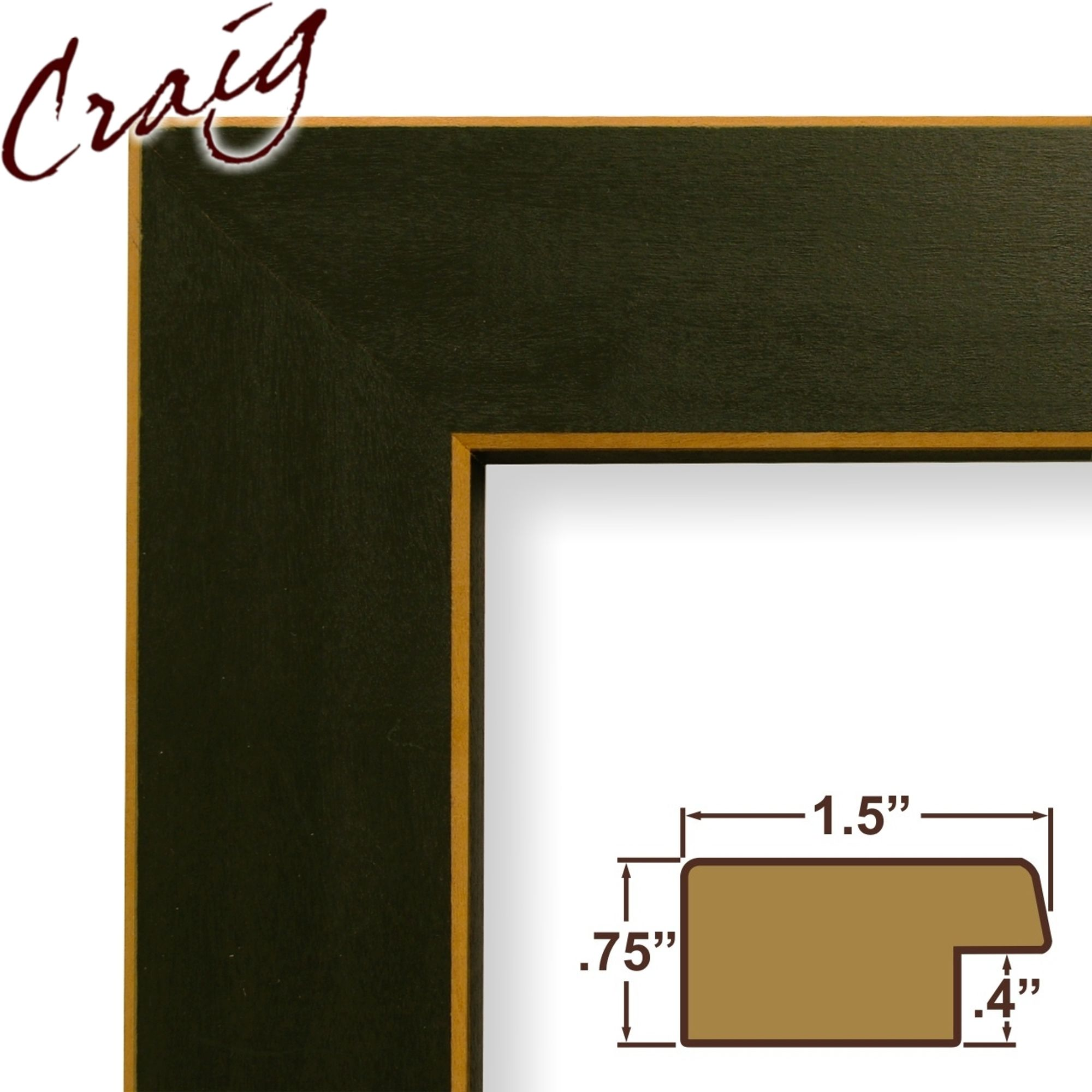green picture frames albums