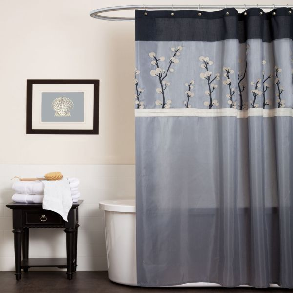 Black and Gray Shower Curtains