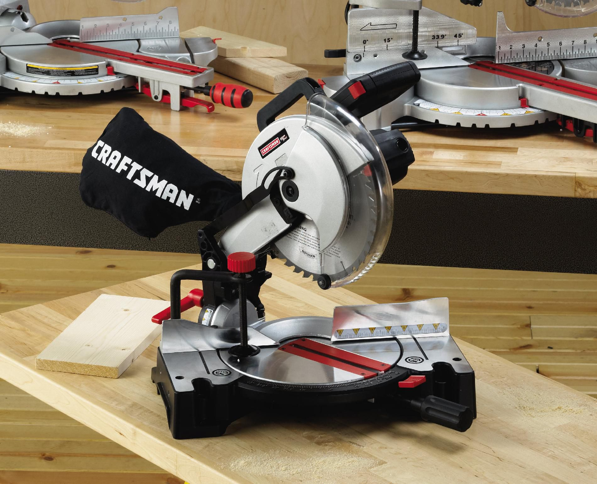 Craftsman 10 Compound Miter With Laser Trac Wood Precision Cuts