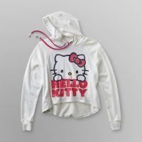 Hello Kitty Girl's Earbud Hoodie Sweatshirt