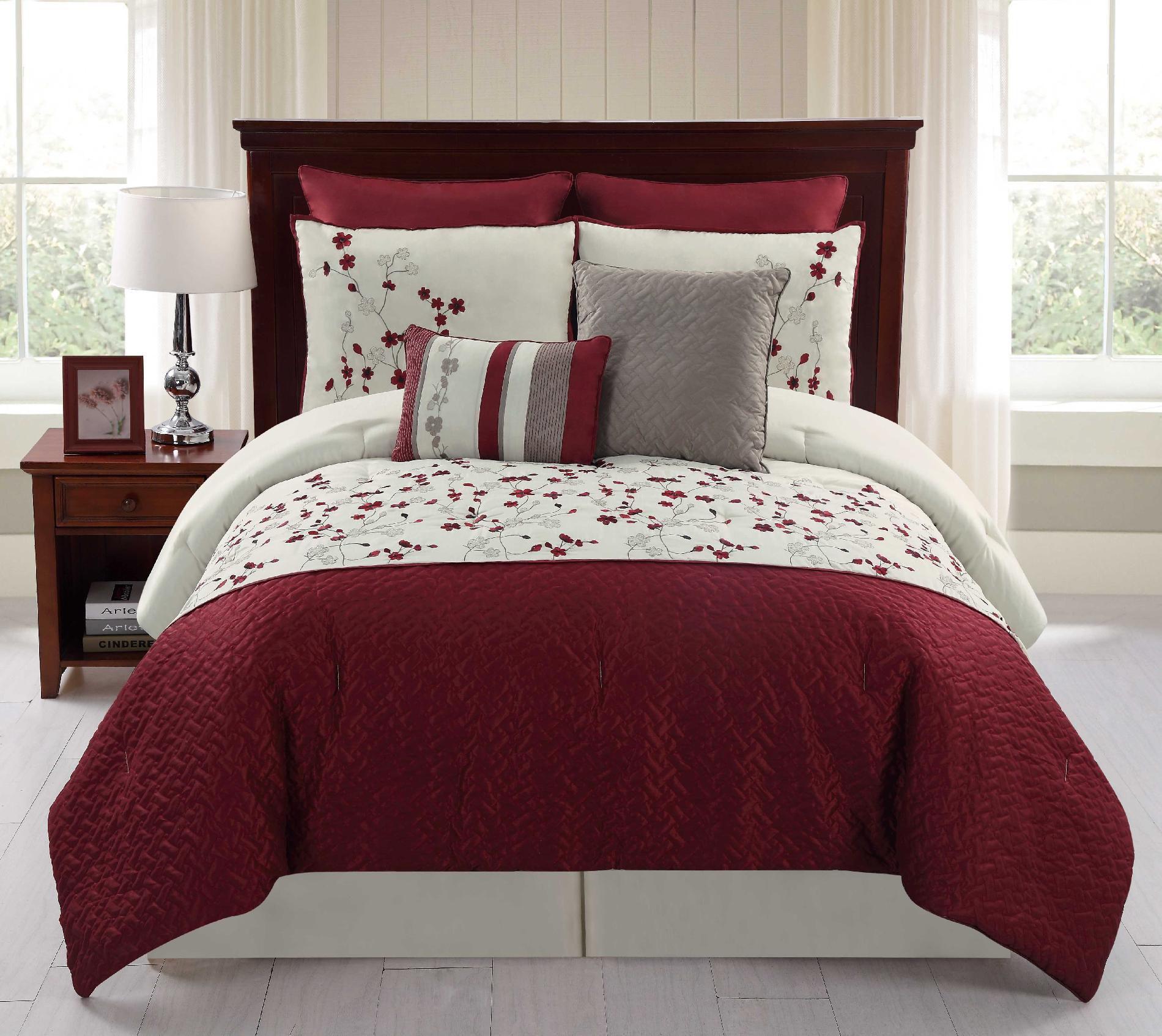 8Piece Embroidered Comforter Set  Sadie