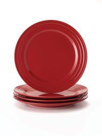 Rachael Ray Dinnerware Double Ridge 4-Piece Stoneware ...