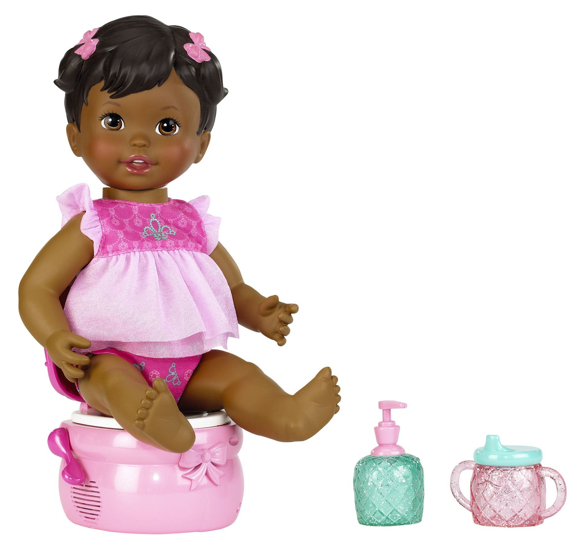Little Mommy Princess And Potty Doll African American - Toys & Games Dolls Accessories