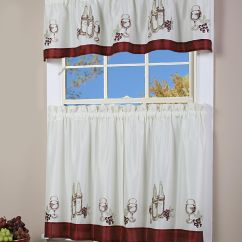 Kitchen Curtain Fabric For Sale Swing Door Simply Window Vino Tier Pair Home