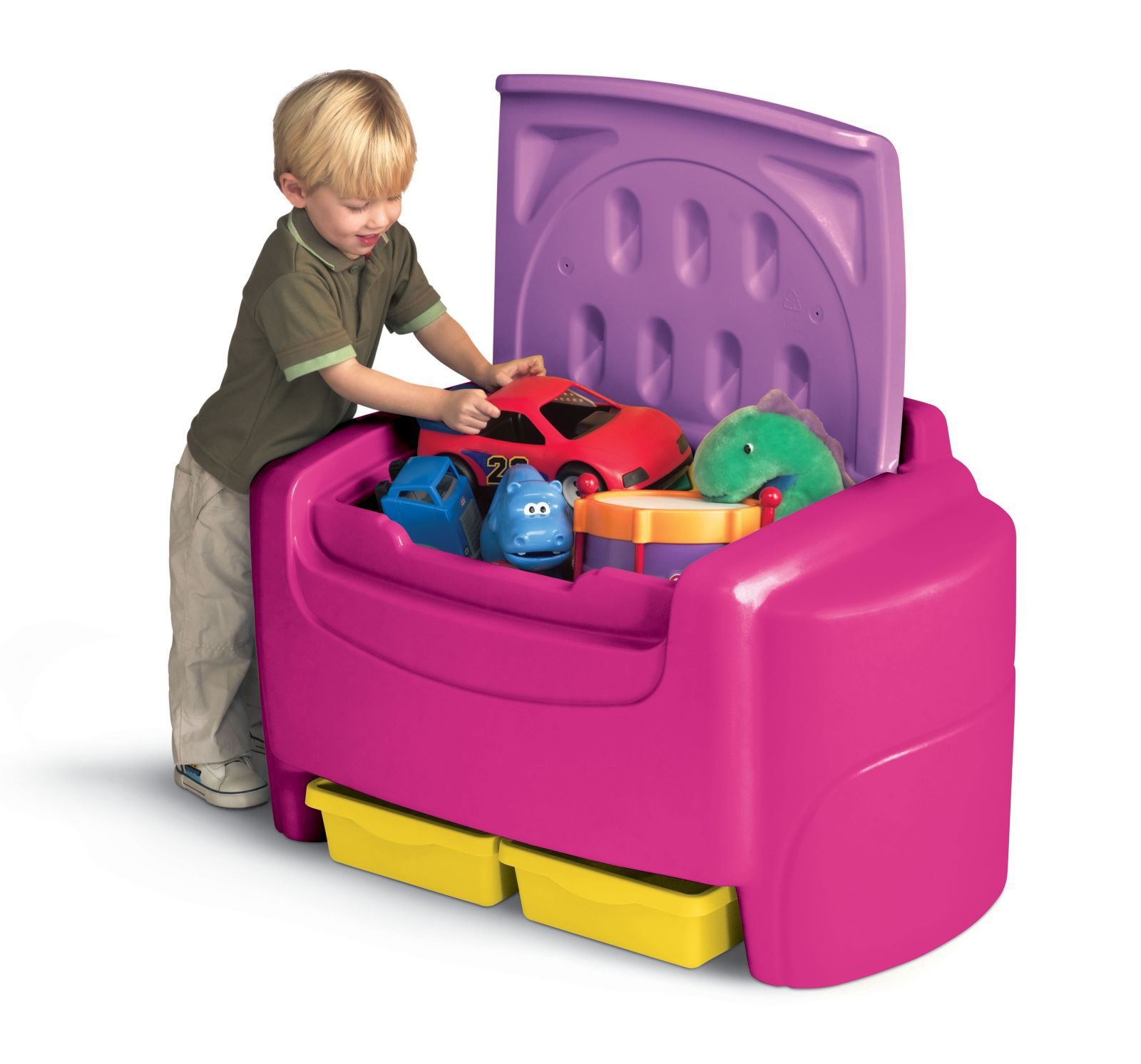 Little Tikes Bright Pink Sort N Store Toy Chest