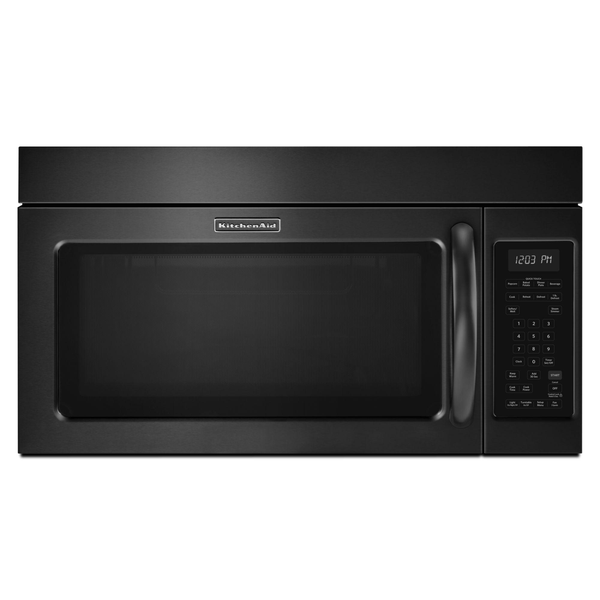 kitchen aid microwaves table sets target kitchenaid khms2040bbl 2 cu ft microwave hood