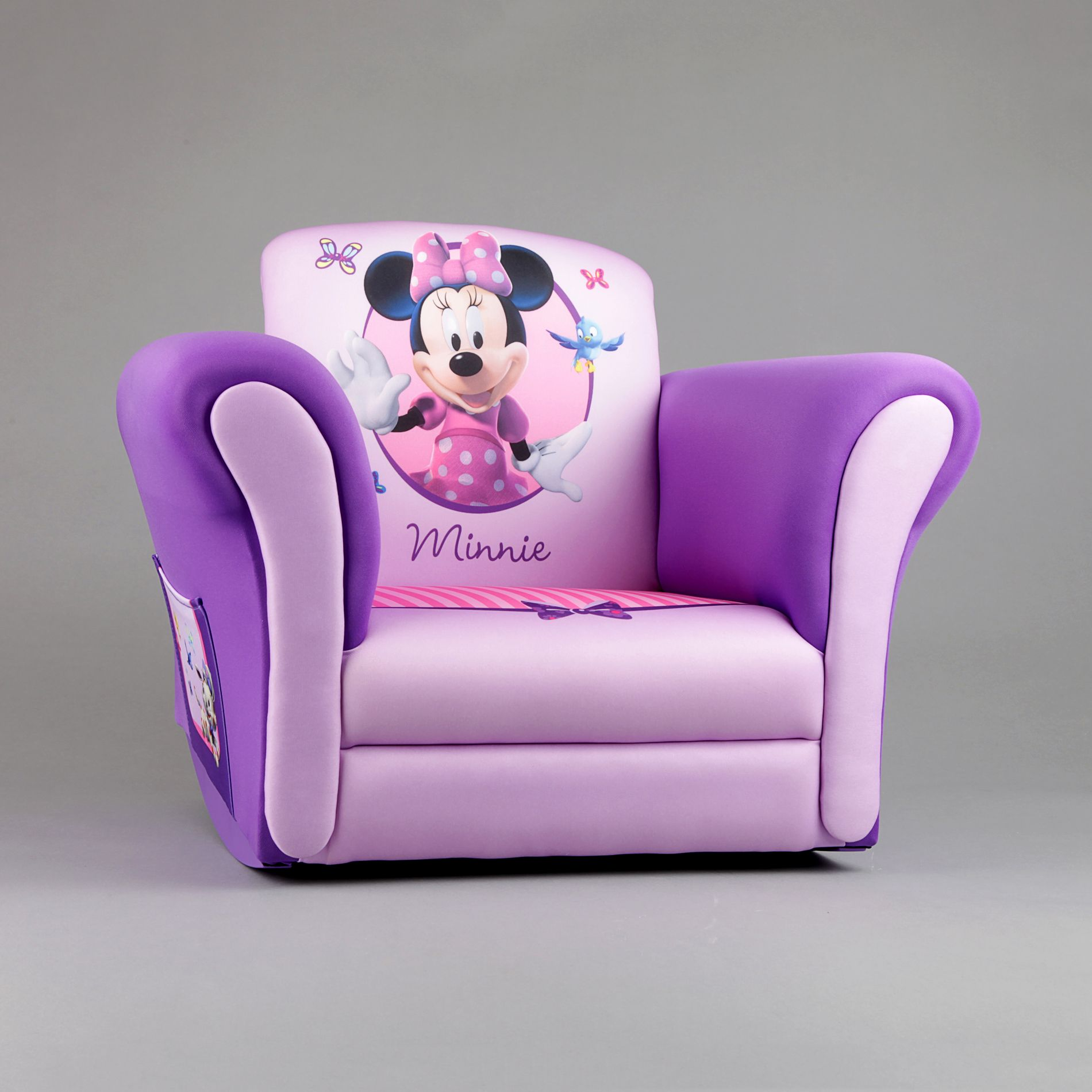 minnie mouse upholstered chair lime green covers delta child 39s rocking