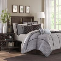 Madison Classics Kingston Gray 7 Piece Comforter Set