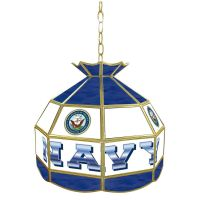 United States Navy 16 inch Stained Glass Tiffany Style Lamp