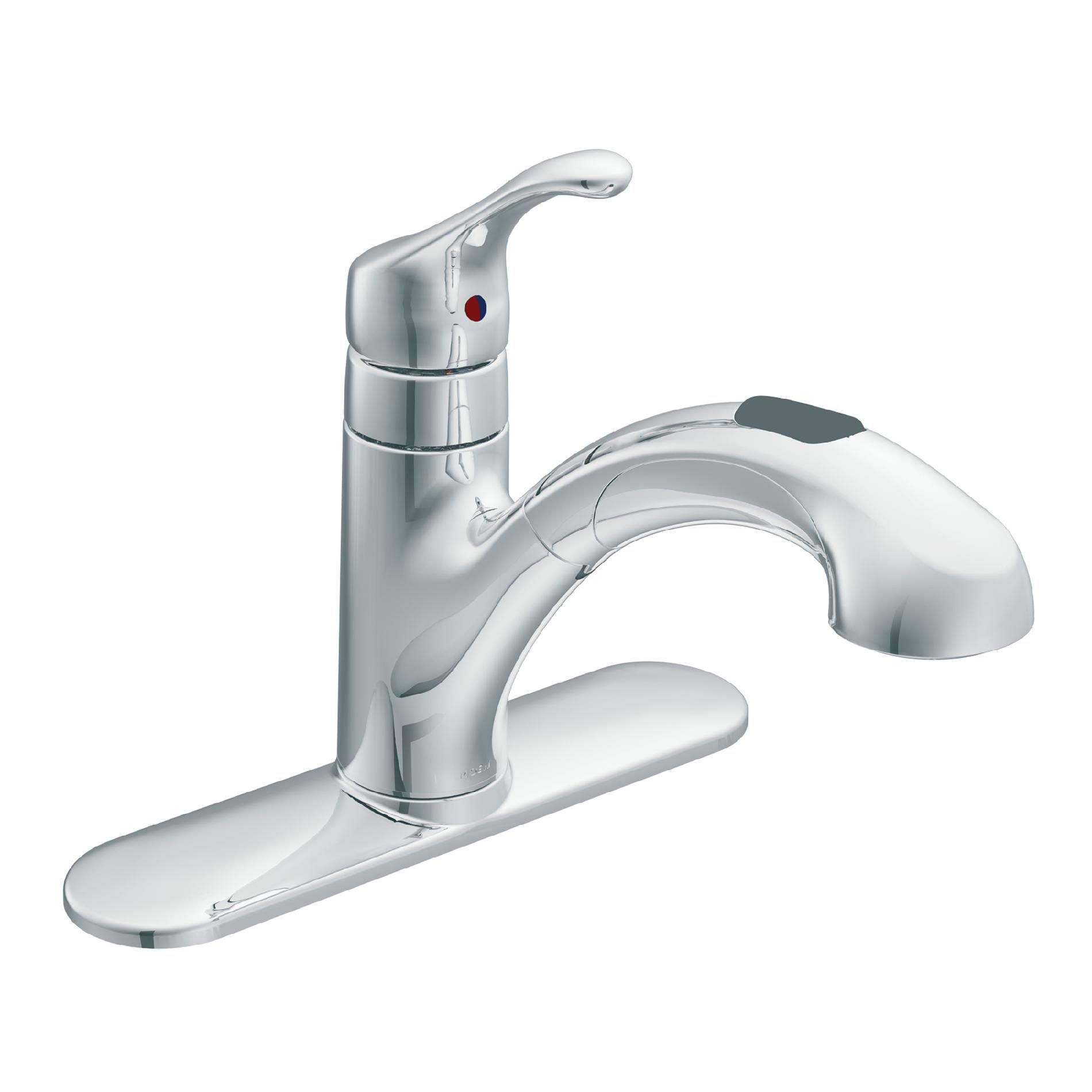kitchen faucet moen banquette ideas single handle faucets sears inc ca87316c 1 pull