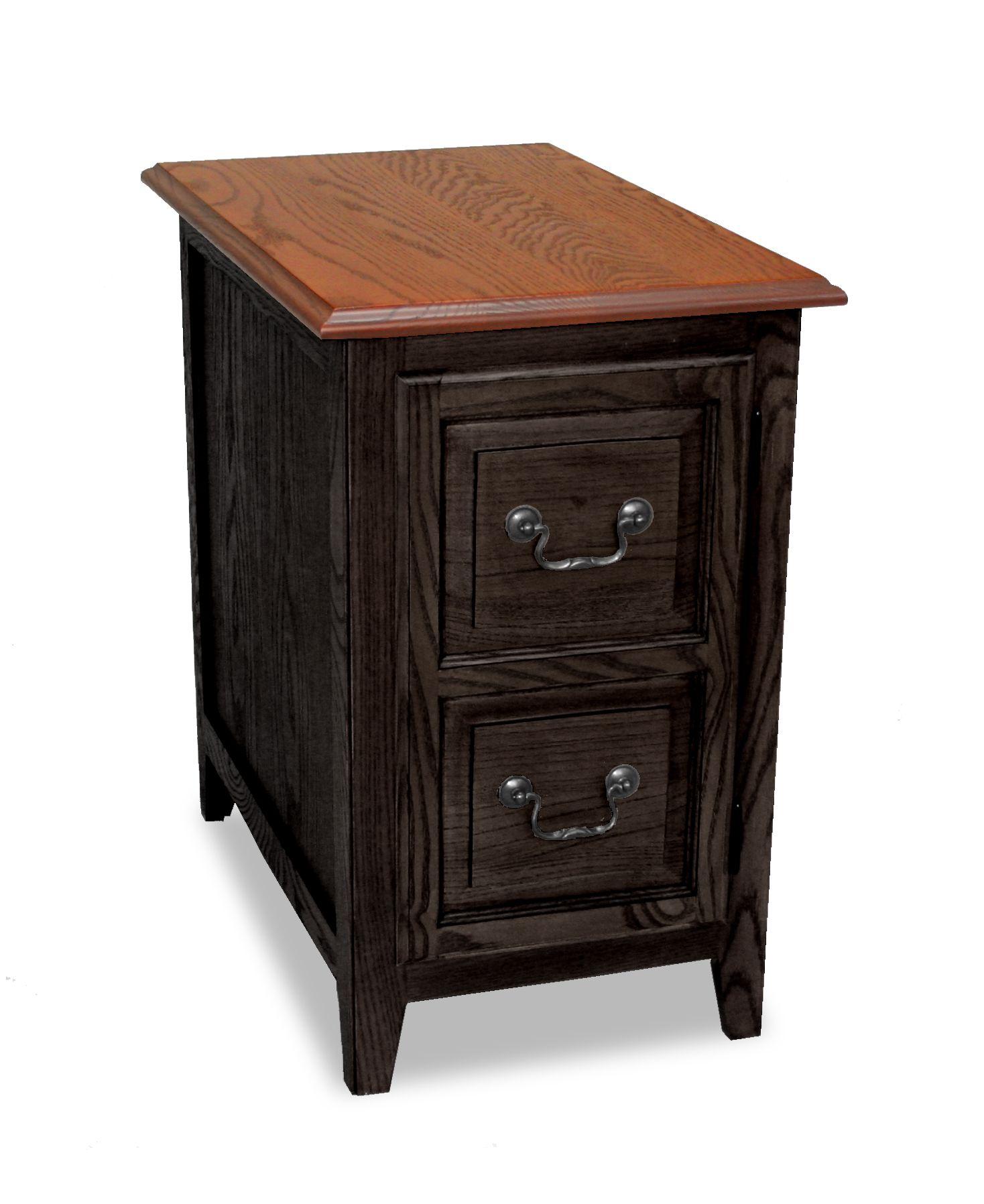 Leick Favorite Finds Shaker Storage End Table - Slate Black
