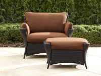 La-Z-Boy Outdoor Everett Oversized Chair with Ottoman ...