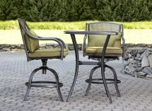 Garden Oasis Bowery 3pc Stamped Tall Bistro Set With