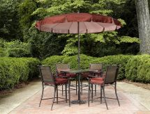 Garden Oasis Van Buren 5pc Cushion Sling High Dining Set