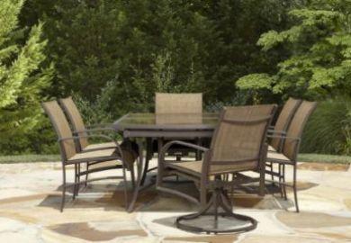 Garden Oasis Harrison 7 Piece Dining Set In Copper Red Sears