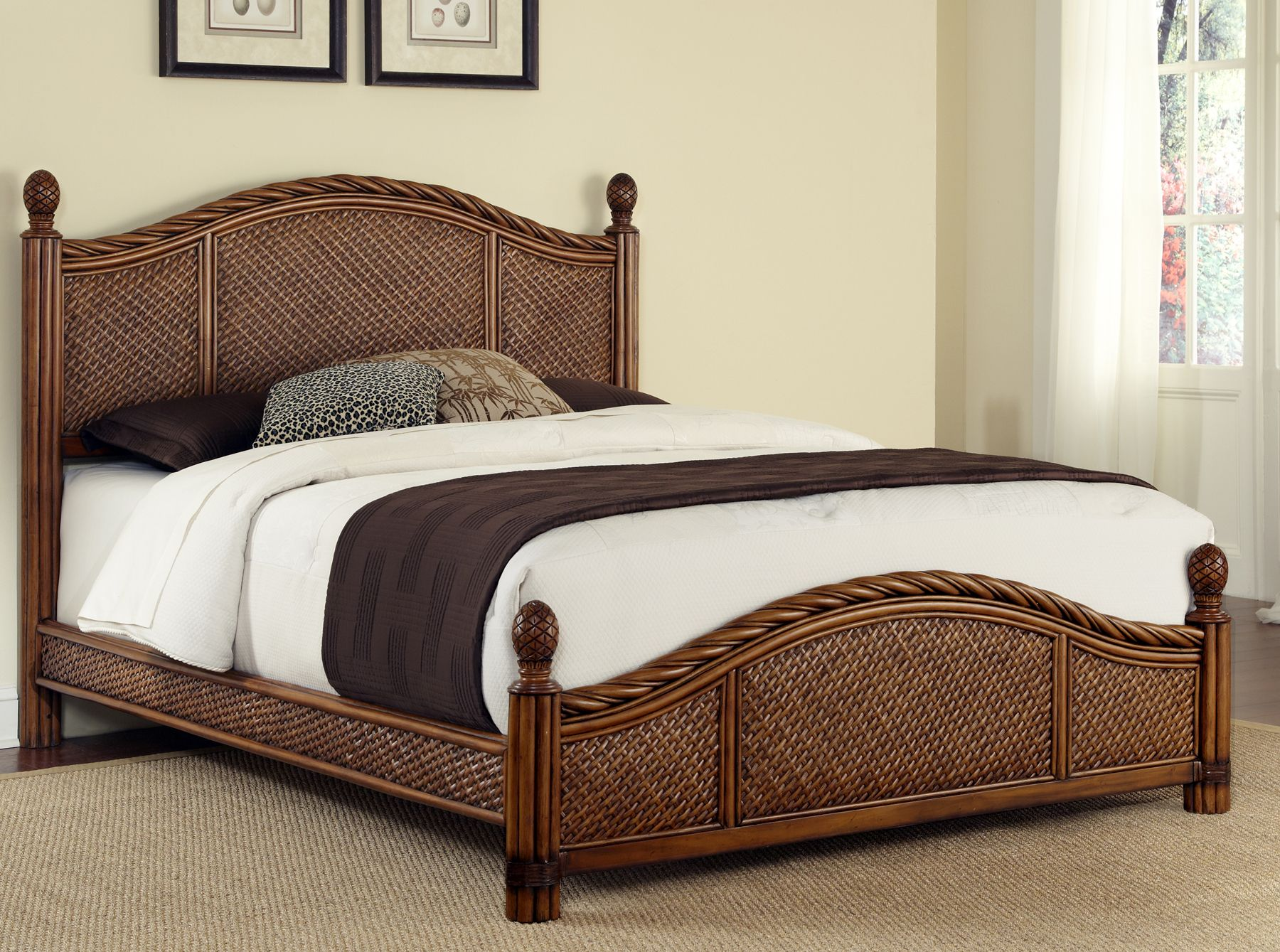 cane sofa cost in hyderabad sagging support australia home styles marco island king bed