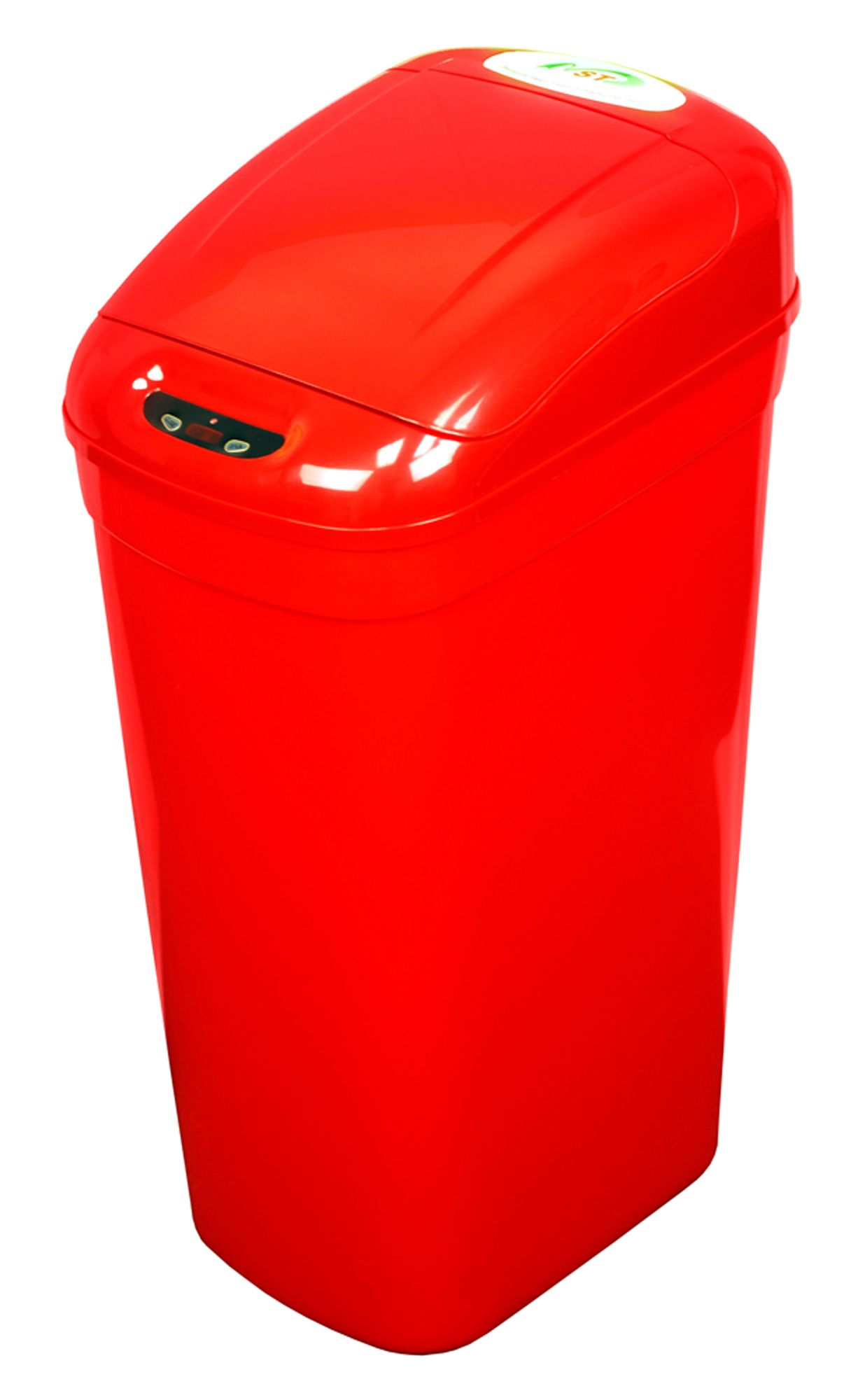 red kitchen trash can amazon chairs nine stars ninestars infrared motion sensor lid open