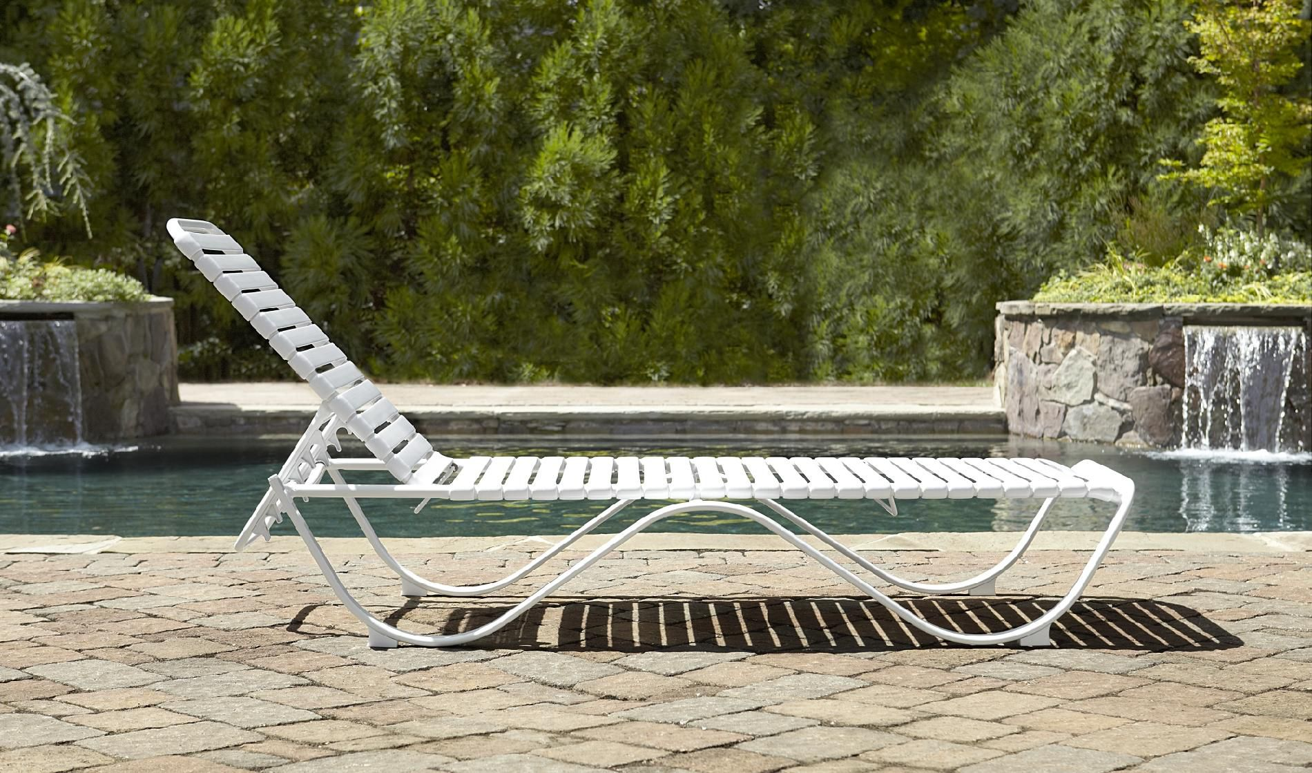 Grand Resort Aluminum Pvc Strap Lounge - Limited